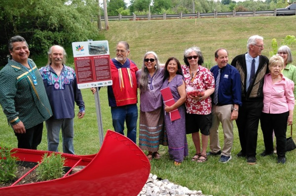 Norval's pollinator canoe: a tribute to culture, history and education
